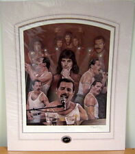 Stephen Doig THE SHOW MUST GO ON - Queen & Freddy Mercury, Rare Print from 1997