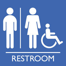 "Unisex Accessible Washroom 8"" x  8"""