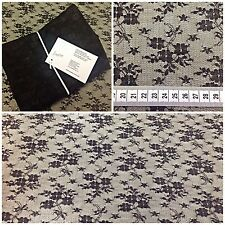 ALLOVER FLORAL RIGID BLACK LACE | 150CMS WIDE | £5 PER METRE