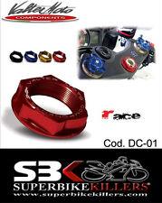 Head tube nut,Steering head nut, Valtermoto Yamaha R6. BJ. 99-2013. Red