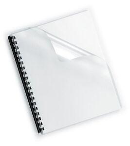10 x Deckblatt PVC transparent DIN A4 0,2 mm 200my