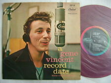 RED VINYL 10INCH / GENE VINCENT - RECORD DATE / EX GREA