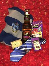 Harry Potter 7 PC Gift Butterbeer Bertie Botts Jelly Slugs Scarf Tie Ravenclaw