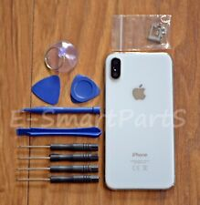 METAL GLASS COMPLETE BACK HOUSING BATTERY COVER REPLACEMENT FOR iPhone X - WHITE