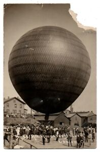 OH Ohio Canton All America Hot Air Balloon Stark County Postcard RPPC