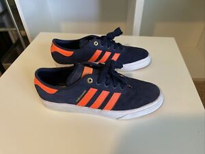 Adidas X The Hundreds Adi-Ease Shoe S84926 Size 10 Orange/Navy Rare & Limited