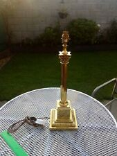 Antique Brass Corinthian Column Table Lamp Edwardian Style Made IN Britain LOOK