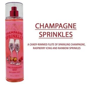 New Bath And Body Works CHAMPAGNE SPRINKLES Winter Fragrance Body Mist 236 mL