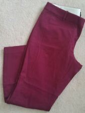 J Crew Minnie pant in stretch twill 18850 Pinot Noir Wine 14 Fitted Cropped