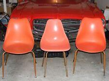 3 VTG EAMES HERMAN MILLER ERA Mid Century Fiberglass Plastic Shell Chair lot
