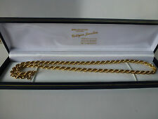 9ct 9carat Yellow Gold Rope Chain, 18 Inch, 9.4 grams