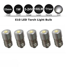 5x E10 Petzl LED Upgrade Bulb Torch Headlamp Zoom Duo 1W 150LM 6/9/12/18/24V DC