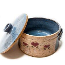 Vintage Handmade Country Folk Art Ceramic Pottery 6.5