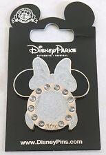 WEDDING RING Minnie BRIDE Groom WIFE Husband MRS Bow Veil JEWELED Disney Pin NEW