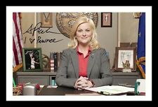 AMY POEHLER - PARKS & AND RECREATION AUTOGRAPHED SIGNED AND FRAMED  POSTER PHOTO