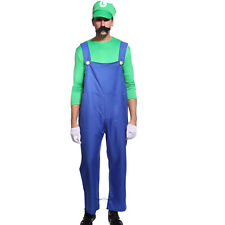 Disfraz de Super Mario Luigi para hombre Cosplay CARNAVAL HALLOWEEN Talla M L XL