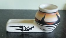 Vintage hand-painted signed Hopi pottery