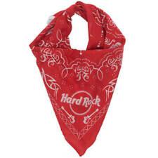 Official Hard Rock Cafe Skull & Guitars Bandana Red Scarf