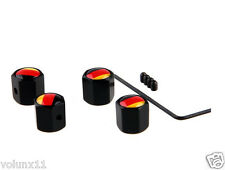 German Anti Theft Air Alloy Car Wheel Tyre Valve Dust Caps Covers  Set of 4