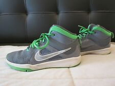 No Reserve! Nike Gray/Green Basketball Shoes -Size 3Y