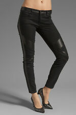 BlankNYC The Spray On Moto Seamed Skinny With Vegan Leather Detail Jeans Size 30