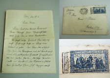 DT. Letter Rome 1926 // Cleric in CDU pflamm // RARE STAMP