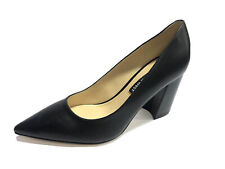 Nine West Cara Black Leather High Heel Pumps, Size 6M