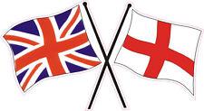 "ENGLAND ""FLAGS"" CAR BUMPER STICKER - British, St George Cross, Union Jack, Flag"