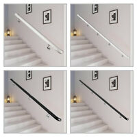 Stair Handrail Stair Rail Aluminum Indoor Handrail for Stairs 3-16' White 200lbs