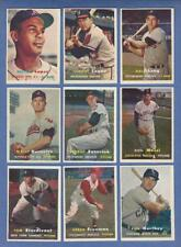 1957 TOPPS  BASEBALL  EX to NRMT COMPLETE YOUR SET  U PICK ANY THREE