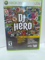 DJ Hero Microsoft Xbox 360 Music FUN Complete (Requires Turntable or Guitar)