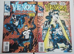 Venom Funeral Pyre #1 & 2 NM Punisher Appearance Marvel Comics 1993