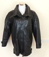 Pour Le Sport VINTAGE Womens M Black Leather Jacket Car Coat