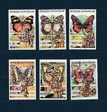 Centrafrique  scoutisme et papillons   1990  num: 835/40 **