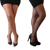 Essexee Legs Plus Size Glossy Tights. Sizes: XL, XXL 15 Denier. Tan, Black