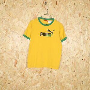 PUMA Grand Logo T Shirt Jaune COURTE S