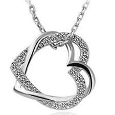 2016 new 925 silver jewelry filled Fashion Heart Necklace Popular Holiday Gifts