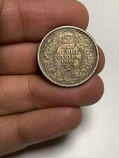 S12 British India 1916 Calcutta 1/2 Rupee Silver Toned