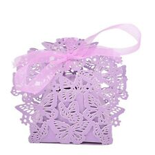10/50/100x Butterfly Ribbon Gift Candy Paper Box Wedding Party Favor Paper Bag