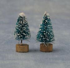 35 mm par muy pequeño de árboles de nieve, casa de muñecas en miniatura de árboles de Navidad