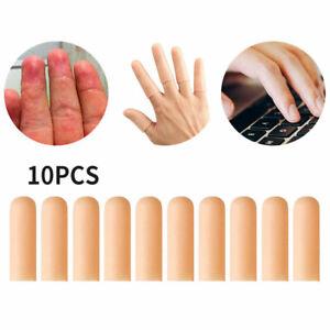10Pcs Finger Cot Gel Finger Protector Fingers Brace Support Arthritis Gloves Set