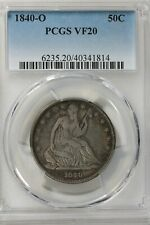 1840 O 50C PCGS VF 20    Liberty Seated Half Dollar, 50 Cents