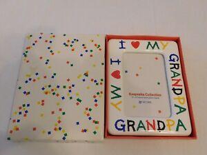 "Keepsake Collection 3 1/2"" X 5"" Easel Back Photo Frame Picture ""I Love Grandpa"""