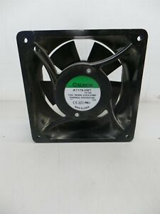 "(190) 7"" Sunon Box Fan A1179-HBT TC.GN 115V AC Fan 0.25/0.27A 5 Blades CCW 30W"
