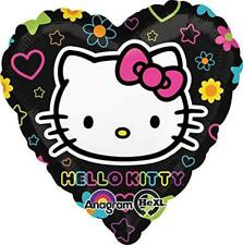 Hello Kitty Tween Neon Foil Mylar Heart Shaped Balloon 1 Per Package New