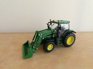 Britains John Deere 6125R Tractor with Front Loader Diecast Model, 1:32 Scale