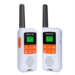 Retevis RT49B FRS Walkie Talkies NOAA Long Range Two Way Radio VOX Rechargeable