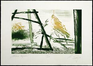 DDR-Kunst, 1988. Aquatinta mit Prägedruck Christian LANG (*1953 D), handsigniert