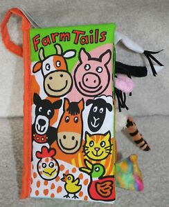 Jellycat Soft Cloth Books, Farm Tails book Development Book***NEW