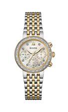 Bulova Maiden Lane Women's 98R214 Quartz Diamond Chronograph Two-Tone 30mm Watch